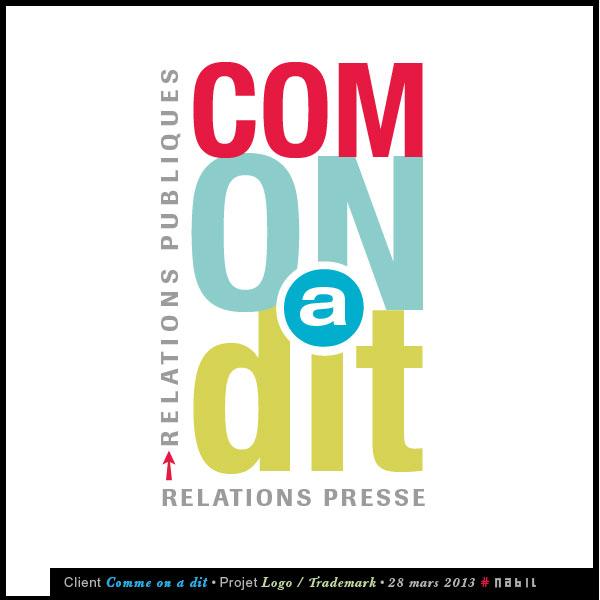"""Logo de présentation du logo de la société """"Comme on a Dit"""""""